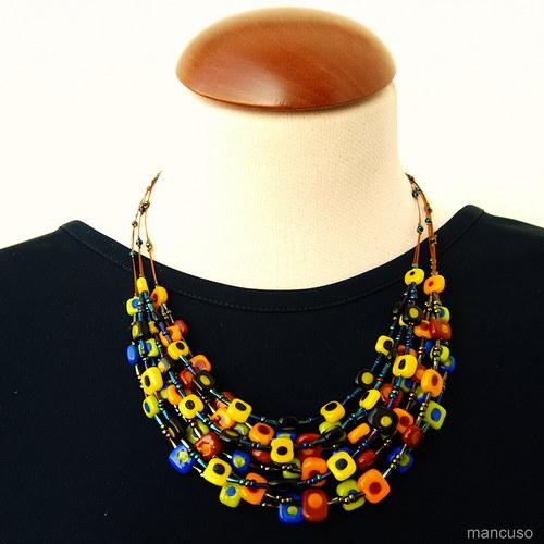 kostičkový náhrdelník I