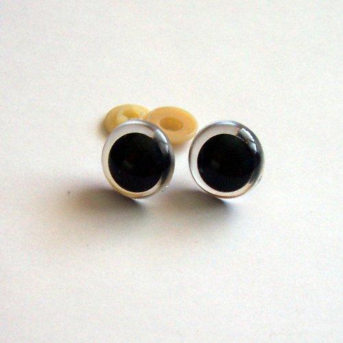 Bezpečnostní oči - čirá, 20mm