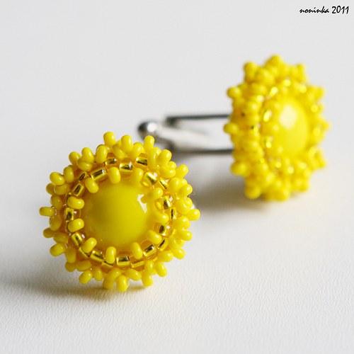 Manžetové knoflíčky žluté