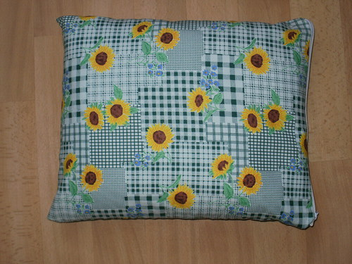 Pohankový (špaldový) polštářek - slunečnice zeleň