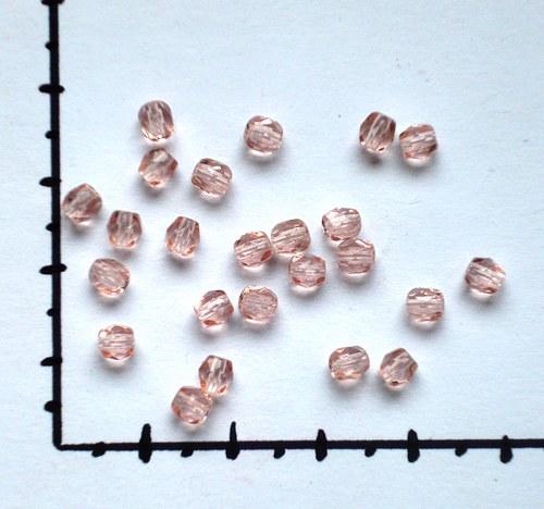 Ohňovky 4mm lesklé růžové, 24ks