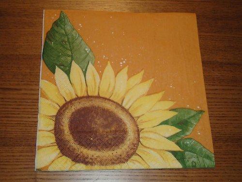 Ubrousek na decoupage - slunečnice