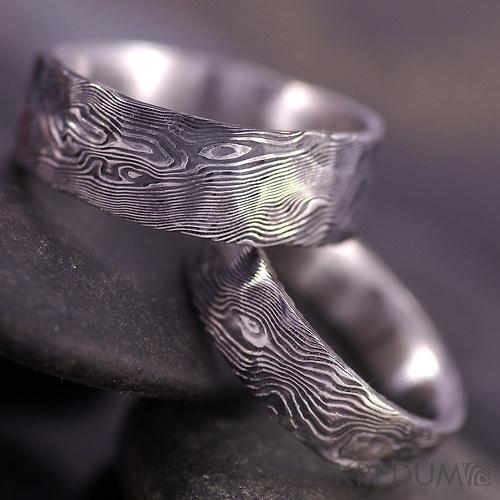 Snubní prsten damasteel - Natura