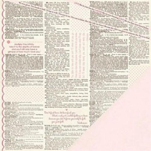 Making Memories Love Struck - Newsprint Word