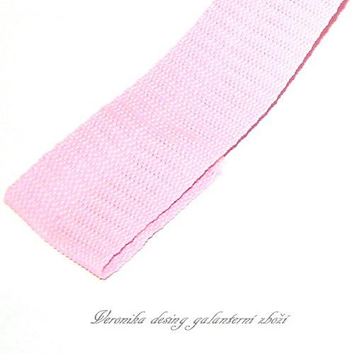Popruh POP 5 cm - růžová akce