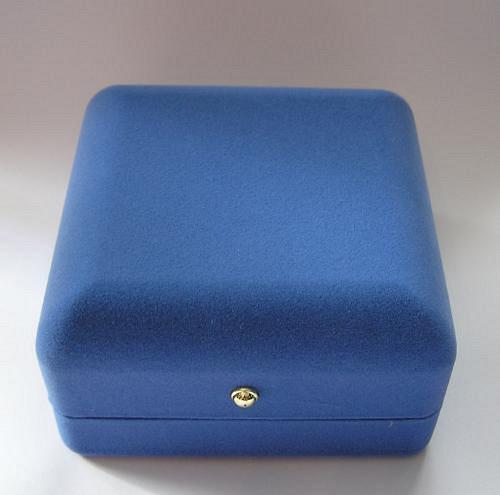 Sametová krabička na šperky - modrá