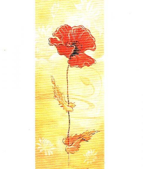 Reprodukce - tisk - Vlčí mák 10x25cm - 0304A