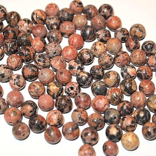 Jaspis Leopard Skin , kuličky 6 mm (cena 6 ks)