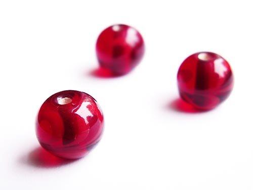 Vínová kulička s červeným zdobením ((V38))