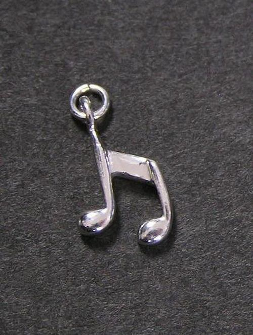 Hudební nota - varianta 2 - stříbrný přívěsek