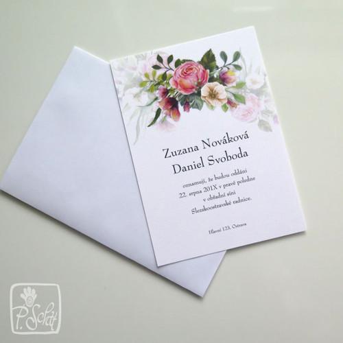 Svatební oznámení S13 - Rozárie diagonal
