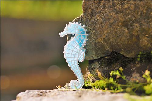 Mořský koník iceland blue/traffic white