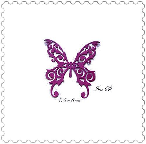 Motýl - krajkový