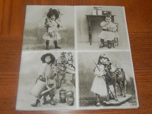 Ubrousek na decoupage - u fotografa, vintage