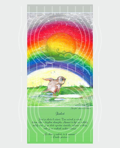 Radost - pohlednice s motivačním citátem