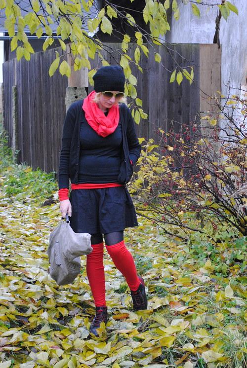 Nohavičky na kotníčky :) červené