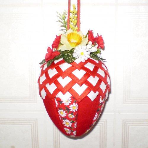Artyčokové vajíčko - červeno-bílé