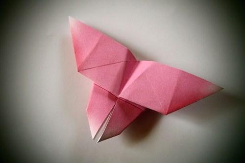 Origami motýlek - růžový