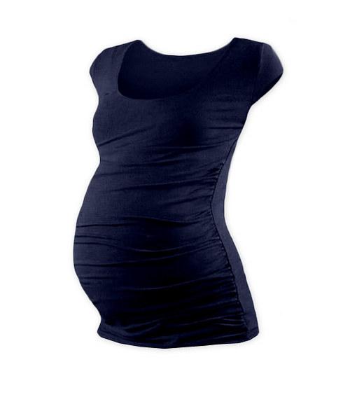 Těhotenské tričko mini rukáv tmavě modré
