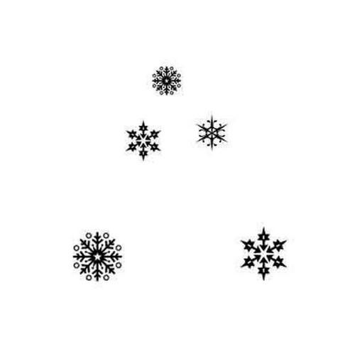 Silikonové razítko Lavinia / Snowflakes