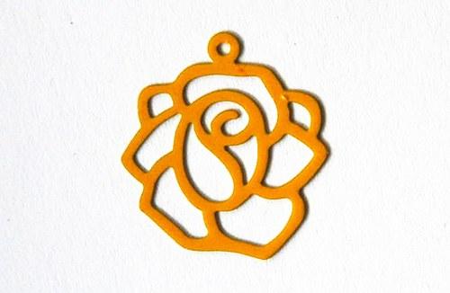Růže žlutá 18x20mm