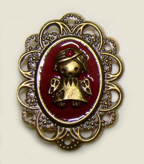 Kačenka - maličká andělská brožka