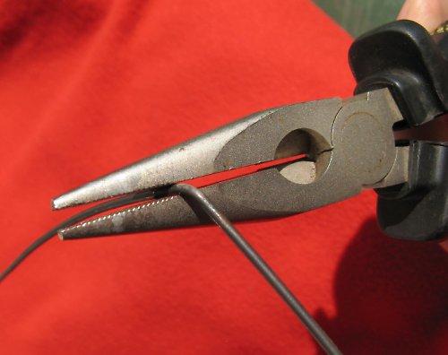 Černý žíhaný drát - průměr 0,71 mm - 1kg