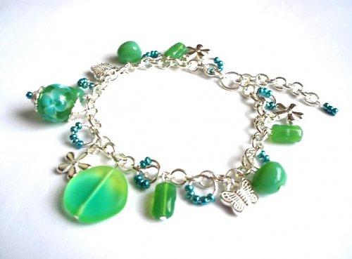 Náramek zelený opál