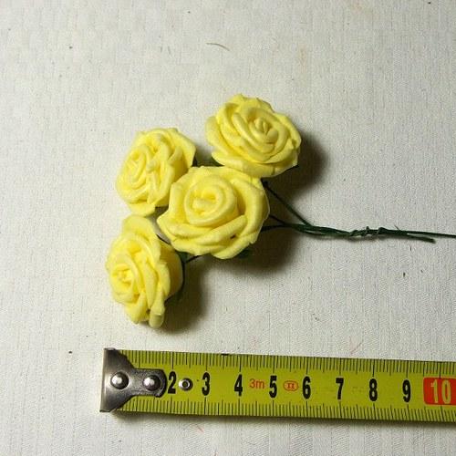 Pěnová růže - cena za 4 ks - žlutá