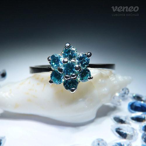 Astra - prsten s akvamaríny