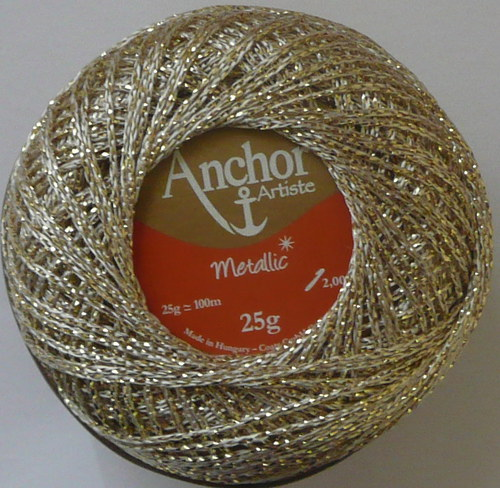 Anchor Artiste Metallic - stříbrno-zlatá