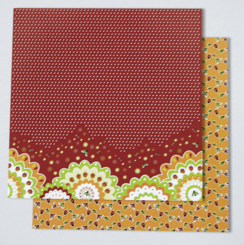 Glitrový scrapbook papír - veverky 119