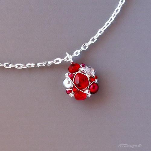 Náhrdelník RED ROSES II