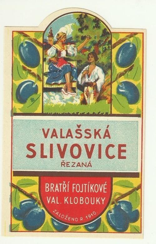 Etiketa Valašská slivovice Valašské Klobouky