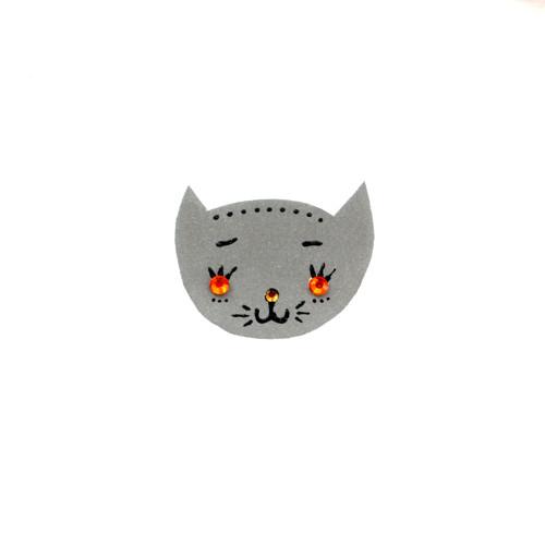Reflexní brož kočička Anežka