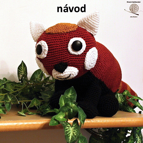 Panda červená_vlastní návod