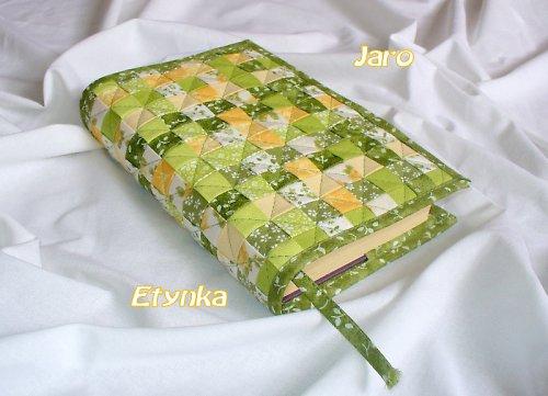 Zeleno-žlutý obal na knihy