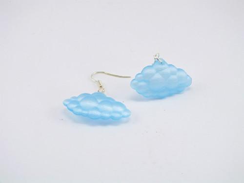 Náušnice clouds iceland blue