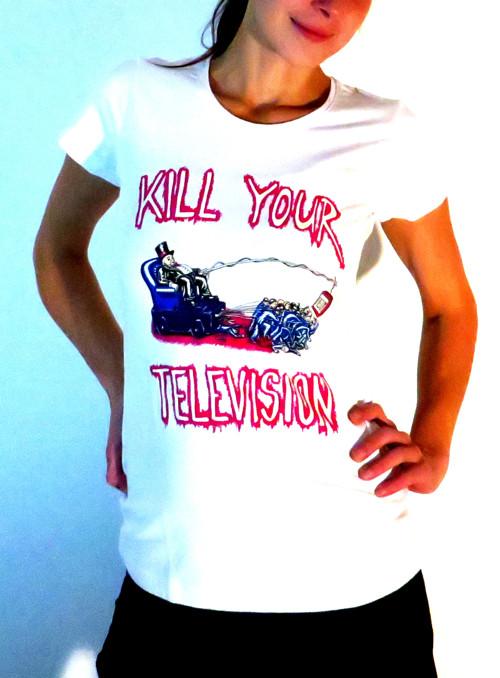 Tričko dámské bílé KILL YOUR TELEVISION