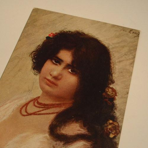 Ženíšek - KRÁSKA S KORÁLKY - pohlednice č. 1165