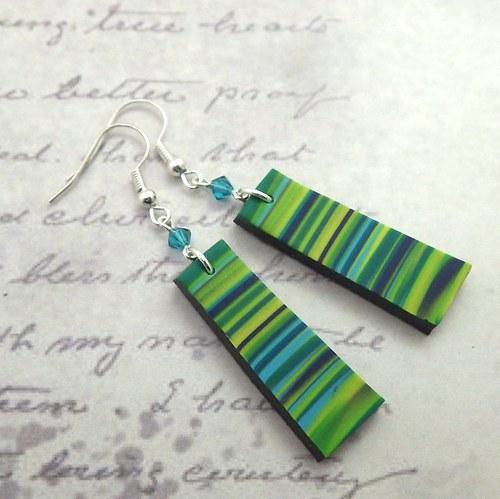 Náušnice Green stripes