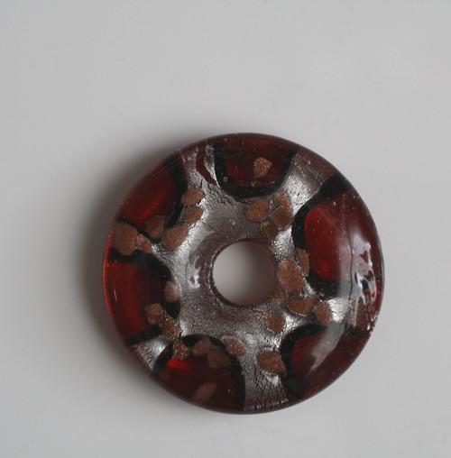 Skleněný přívěsek - donut
