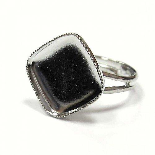 Prsten oblý kosočtverec - 12 mm