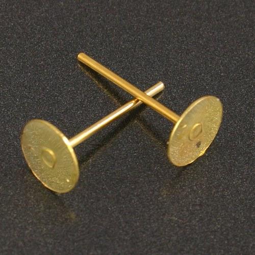 Zlaté puzety 12x8mm 10ks