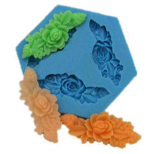 Silikonová formička - květinové ornamenty