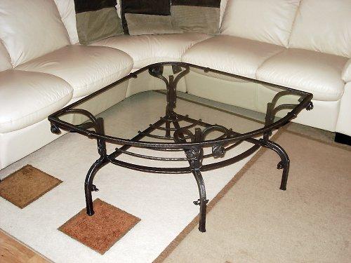 Kovaný konferenční stolík ,rohový