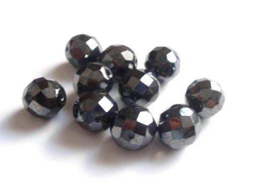 Broušené perle hematit 12mm