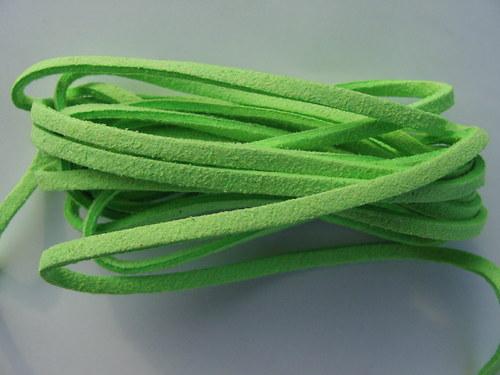 Imitace kůže, křiklavě zelená 3 mm