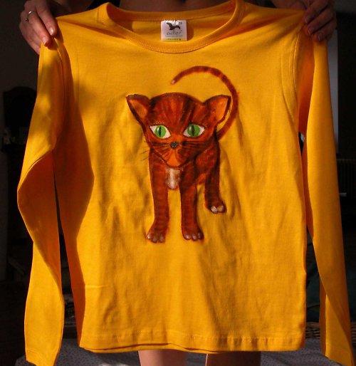 Kotě - dětské tričko
