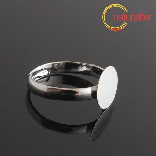 Základ na prsten s ploškou 10mm platinová barva